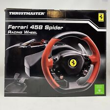 Thrustmaster Ferrari 458 Spider (4460105) Wheel And Pedals Set XBox One New NIB