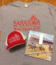 2017 Saratoga Race Course Giveaways, Hat, Shirt, Clock