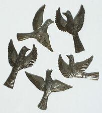 Lot de 5 oiseaux volants haitian recyclé fût métallique art décoration murale