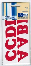 Iron On Red Letters Birch Team Alphabet Transfer to Fabric 40 count x 35mm