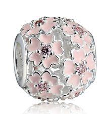 2017 Brand New 925 Sterling Silver Flowers European Bead Charm For Girl Bracelet