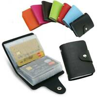 Unisex Mens ID Credit Card Holder Pocket Case Purse Wallet For Cards PU Leather