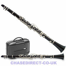 More details for clarinet in bb brushed black with hard case chase 77c outfit - b stock bargain !