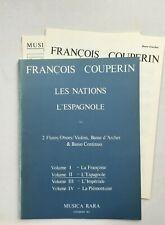 Noten. Couperin. Les Nations -  L'Espagnole. Vol. II. Partitur mit Stimmen.