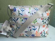 Kipling Alvar White Floral Dreamer Crossbody Shoulder Bag Monkey Louise HB6141