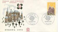 FRANCE FDC - 801a 1714 1 EUROPA - PARIS 22 4 1972 - LUXE