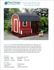 Chicken Coop / Hen House 4 ft x 8 ft Barn Roof Style Project Plans, 70408RB