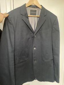 SISLEY Mens Cotton Mens Blazer Travel Jacket.  Great tailoring. Size EU52