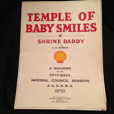 Temple of Baby Smiles Shrine Daddy Piano Sheet Music Toronto Imperial Council