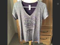Harley Davidson Palm Beach Gray T Shirt Size  S