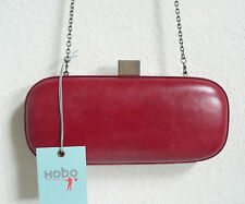 Hobo International Prudence Clutch Shoulder Bag Flame Red Leather NWT
