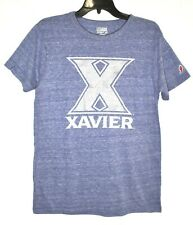 XAVIER UNIVERSITY MUSKETEERS League T-Shirt (Size L) Blue Short Sleeve NCAA >NEW