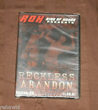 ROH RECKLESS ABANDON (DVD) 2007 BRAND NEW *RARE* RING OF HONOR WWE PWG TNA