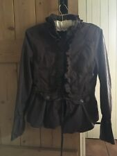 BROWN COTTON JACKET, LOTS OF DESIGN DETAIL SMALL