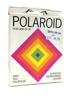 Polaroid SX-70 Land Film 10 Instant Pictures 8x8cm With Polapulse Battery K323