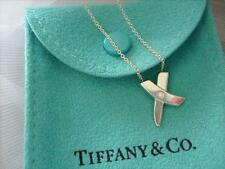 Tiffany & Co. Paloma  Picasso Modern X Diamond Pendant Necklace