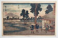 ORIGINAL HIROSHIGE JAPANESE WOODBLOCK PRINT UKIYO-E FUJI