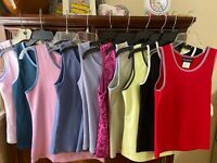 Lot Of 5 Womens/Juniors  Exercise Active Fitness Yoga Casual Tank Top NWT Medium