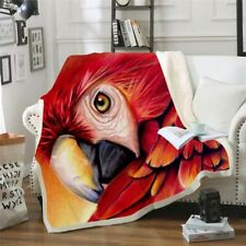 Blanket Winter Home Textiles Throws For Sofa Bed Couch Parrot Designed Bedspread