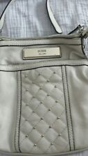 GUESS Crossbody Handbag Purse Ivory Beige Off White Leather