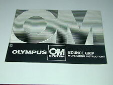 notice OLYMPUS OM  BOUNCE GRIP in english photo photographie