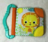 Bright Starts Lion Sloth Rhino Jungle Animals Crinkle Book Baby Toddler Teether