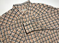 ROPER MENS LONG SLEEVE PEARL SNAP BUTTON DOWN PLAID SHIRT 2XL XXL