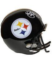 Troy Polamalu Signed Steelers Full Size Replica Black Helmet Beckett WB11459