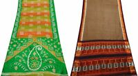 Women Sari Pack of 2 Indian Printed Art Décor Silk Blend Vintage Sari COMGSI-102