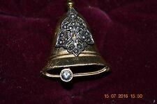 Brooch Signed Darlene Vintage Christmas Bell Pin