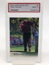 2001 Upper Deck UD Tiger Woods #1 Rookie RC PSA 9 MINT #05494147