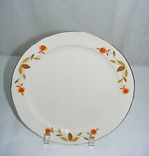 "Vintage Hall Superior China Autumn Leaf Jewel T 9"" Breakfast Plate"