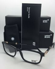 New MONTBLANC Eyeglasses MB 540 001 55-18 145 Shiny Black Frames w/ Demo Lenses