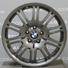 "GENUINE BMW M3 E46 67M ANTHRACITE 19""INCH 10 DOUBLE SPOKE ALLOY WHEELS X4"