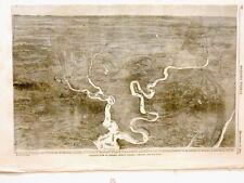 Harper's Weekly Page Civil War Detailed Isometric Map Gen Grant in Virginia 1864