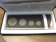 1908-1998 Canada 90th Anniversary Sterling Silver Set, 5 Coins In  Mint Case