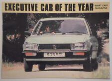 PEUGEOT 505 SALOON RANGE orig 1980 UK Mkt Smaller Format Sales Brochure