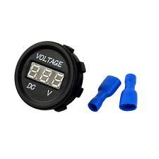 1Pcs DC 12V-24V Mini Round LED Digital Car Storage Battery Voltage Meter Display