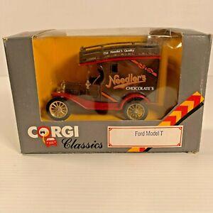 Corgi Classics Made in GB 1980s - 865/1 Ford  Model T Van - Needlers Chocolate