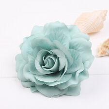 Hair Blooming Flower Rose Corsage Hair Clip Wedding Bridal Bridesmaid Brooch