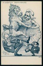 art Orens UK England king royalty Political humor lion caricature 1905 postcard