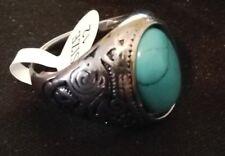 Beautiful Men's Fashion Jewelry Blue Zircon Titanium Steel Ring Size 12 New!!