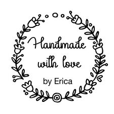 custom name flower frame handmade with love by personalized self inking stamp