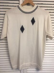 Vintage 1960's Donegal Coleseta Mod Style Argyle Shirt  Men's Medium
