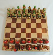 Russian Wooden Chess Set and Board