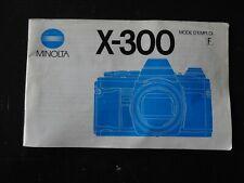 Mode d' emploi notice MINOLTA X-300 langue française 1984 appareil argentique vi