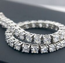 2.00 CTW ROUND CUT NATURAL DIAMONDS 14K WHITE GOLD DIAMOND TENNIS BRACELET