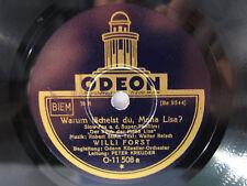 78rpm WILLI FORST - WARUM LÄCHELST DU, MONA LISA ? Schellackplatte Odeon 1931