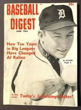 VINTAGE BASEBALL DIGEST AL KALINE JUNE 1963 VOL 22 NO 5