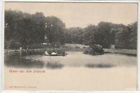 Ansichtskarte Gruss aus dem Dobrock/Dobrook Wingst - Teich im Park um 1900